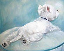 Paint by Numbers kit Westie Dog Oil Painting