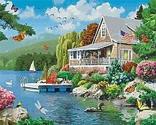 Paint by Numbers Kits Canvas Oil Painting Beach