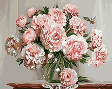 Paint by Numbers Kits Canvas Oil Painting Pink