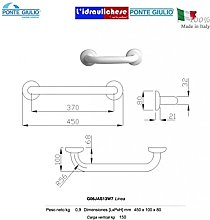 Paint Linear Handle MM.370 Steel/Polyamide White