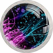 Paint Splatter Abstract Streaks 4pcs Glass