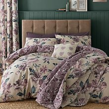 Painted Floral Easy Care Duvet Cover Set Catherine