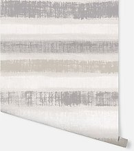 Painted Stripe Chalk Grey Wallpaper 610603 -