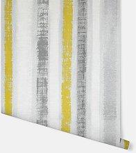 Painted Stripe Ochre & Grey Wallpaper 296900 -