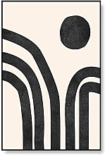 PAINTINGXXG Canvas Painting Abstract Line Drawing