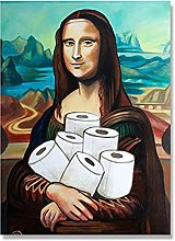 PAINTINGXXG Canvas Painting HD Print Funny Toilet