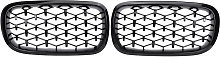 Pair Black Front Kidney Grill Grille For BMW X5