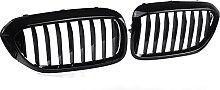 Pair Glossy Matte Black Front Kidney Grill Grille