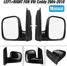 Pair Manual Door Wing Mirror Left + Right O/S N/S