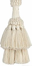 Pair Natural Cotton Curtain Tie Back with Tassel -