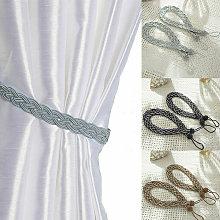 Pair Of Braided Satin Rope Curtain Tie Backs