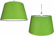 Pair of Cotton Drum Shade – Olive