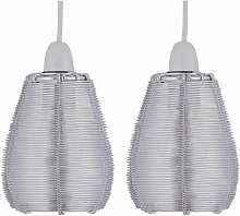 Pair of Metal Wire Ceiling Light Shades