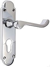 Pair of Polished Chrome Scroll/Shaped Door Handles