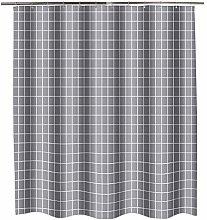 paisin Shower curtain proof Gray lattice with