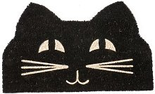 Pakswith Cat Face Non Slip Coir Doormat Happy Larry