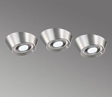 PAL CF set of 3 LED under-cabinet lights, 12 cm Ø