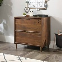 Palais Wooden Filing Cabinet In Walnut With 2