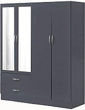 PALAKLOT High Gloss Bedroom Furniture   4 Door