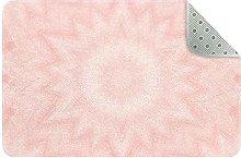 Pale pink kaleidoscope Entrance Door Mat Entry Way