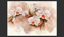 Pale Yellow Orchids 280cm x 400cm Wallpaper East