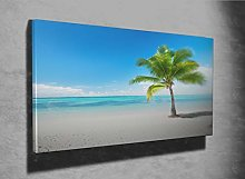 Palm and Beach Photo Canvas Print (8537765)