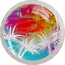Palm Glass Cabinet Knobs Cupboard Knobs Crystal