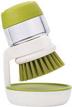 Palm Scrub Washing up brush by Joseph Joseph Green