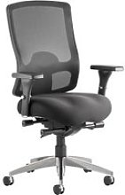Palmetto Mesh Back Lumbar Operator Chair, Black,