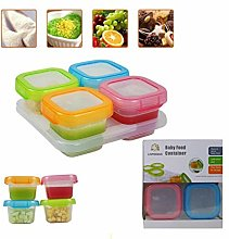 PALMFOX Baby Food Storage Containers with Lids