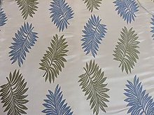 Palms Wedgewood Satin Leaf Jacquard 140cm/54""