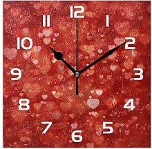 Pam9877ga Wall Clock Heart Shape Valentine's