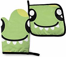 Pamela Hill Oven Mitts And Potholders Cute Green