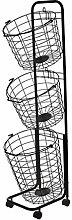 PAN Metal Mesh Wire Laundry Basket, Rolling