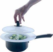 Pan Top Food Steamer Basket with Lid : Fits
