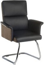 Panache Leather Visitor Chair (Black), Black