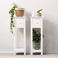 Panana 1 Pair Bedside Cabinet Table Unit with 1