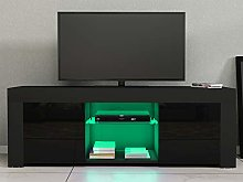 Panana 120cm LED TV Stand Cabinet Unit with Glass