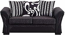 Panana 2 Seater Sofa Faux Leather and Fabric