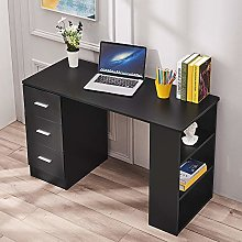 Panana 3 Drawers Computer Desk With 3 Bookcase
