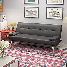 Panana 3 Seater Faux Leather Sofa Bed Modern