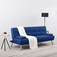 Panana 3 Seater Linen Fabric Sofa Bed Modern