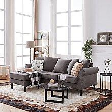 Panana 3 Seater Sofa Corner Sofa Couch L Shaped