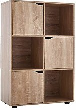 Panana-B Cube Bookcase 3 Doors and 3 Open Cubes
