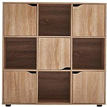 Panana-B Cube Bookcase 5 Doors and 4 Open Cubes