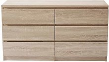 Panana Chest of Drawers, Wood Storage Cabinet