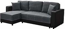 Panana Corner Sofa Bed With Storage Linen Fabric