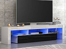 Panana Front RGB LED TV Stand Cabinet Unit Modern