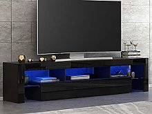 Panana High Gloss Front LED TV Stand Cabinet Unit