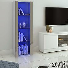 Panana LED Tall Display Cabinet with Glass Shelf